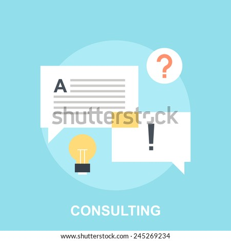 Consulting - stock vector
