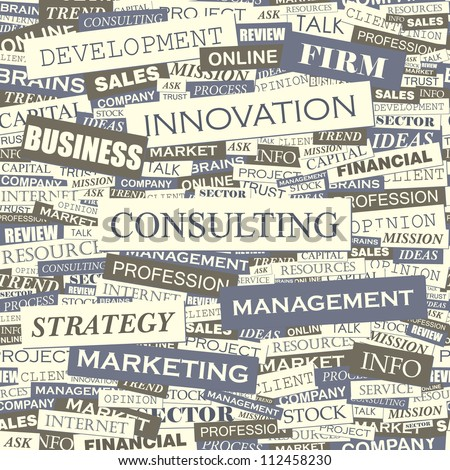 Consulting. Seamless vector pattern. - stock vector