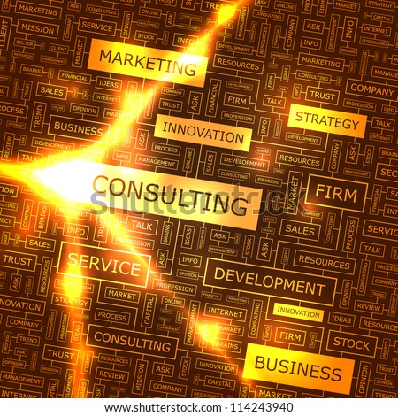 Consulting. Vector illustration for business. - stock vector