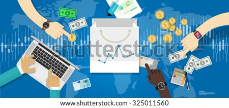 consumer price index cpi confidence market growth shopping spending increase business statistics cci - stock vector