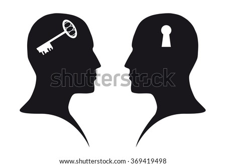 Contact (communication) - stock vector