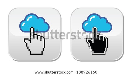 Contact - envelope, email, speech bubble with cursor buttons - stock vector