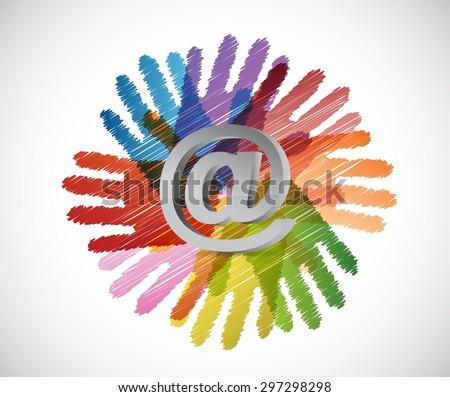 contact everyone concept illustration design over white - stock vector
