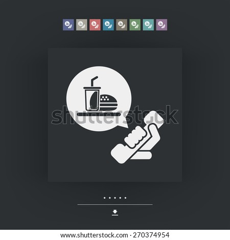 Contact for food takeaway - stock vector
