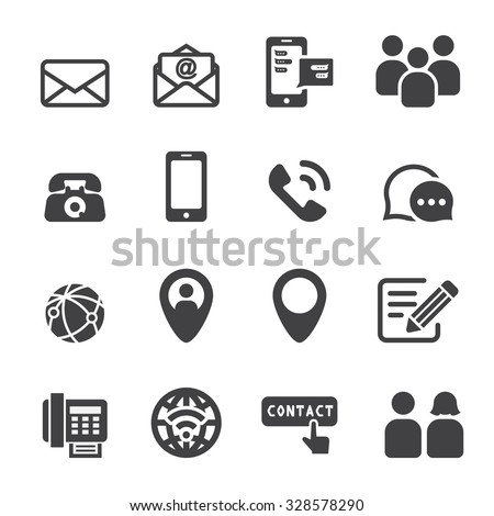 contact icon - stock vector