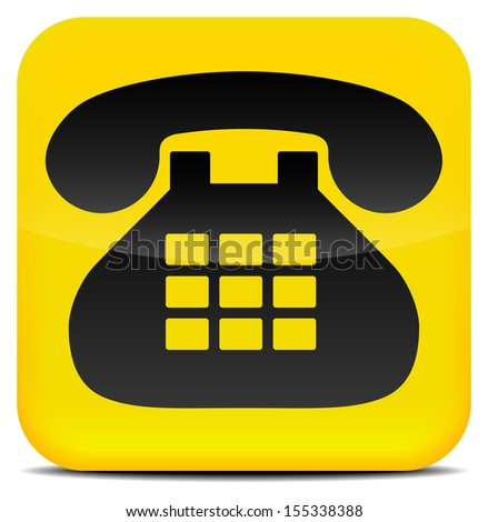 Contact Icon/Button with Phone - Contact us, Phone us, Get in touch royalty free vector - stock vector