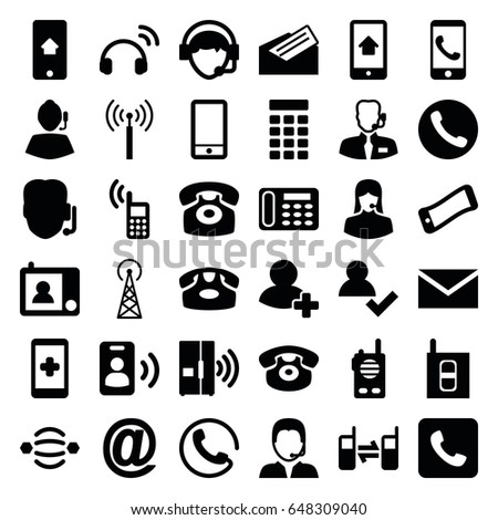 Contact icons set set 36 contact stock vector hd royalty free contact icons set set of 36 contact filled icons such as signal tower call thecheapjerseys Images