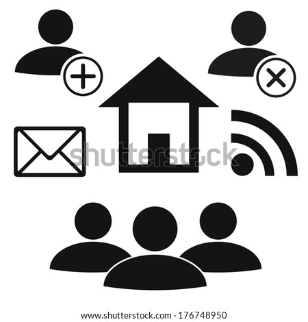 Contact icons, Vector illustration. - stock vector