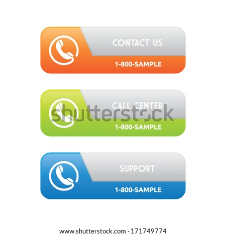 Contact Support Banners - stock vector