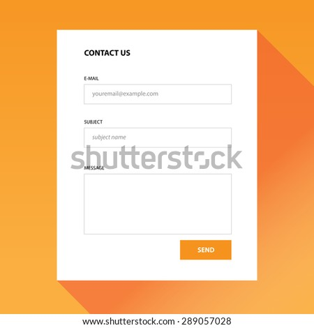 Contact us colorful modern form which you can use in your webdesign. - stock vector