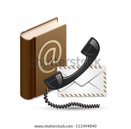 Contact Us. Contact book, phone and mail. Vector illustration - stock vector