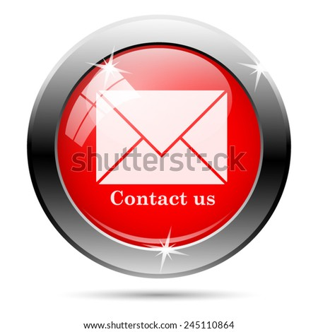 Contact us icon. Internet button on white background.  - stock vector