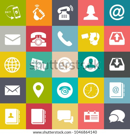 Contact Us Icons Customer Service Icons Stock Photo Photo Vector