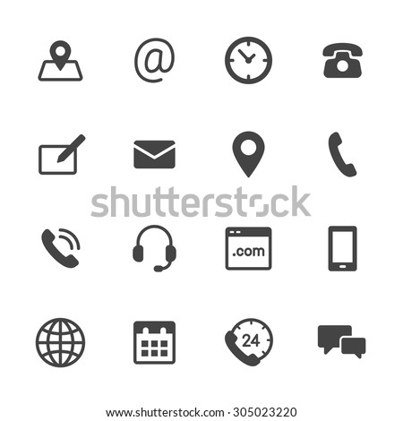 Icons on business telephone