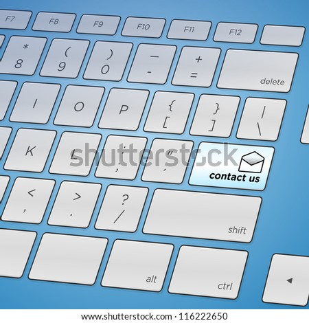 Contact Us Keyboard - Internet feedback or contact solution in form of key on keyboard