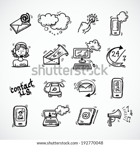 Contact us phone customer service user support isolated vector illustration