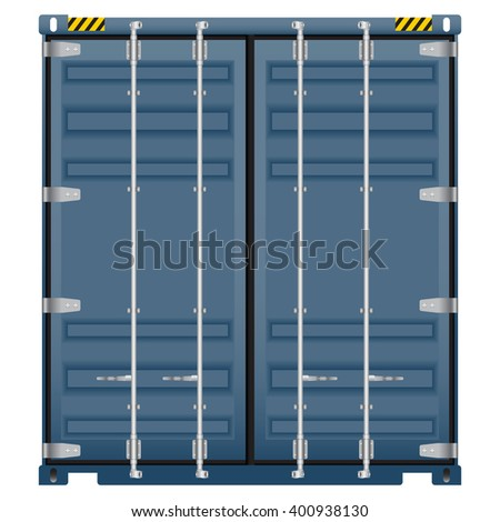 Container vector image on isolated white background.