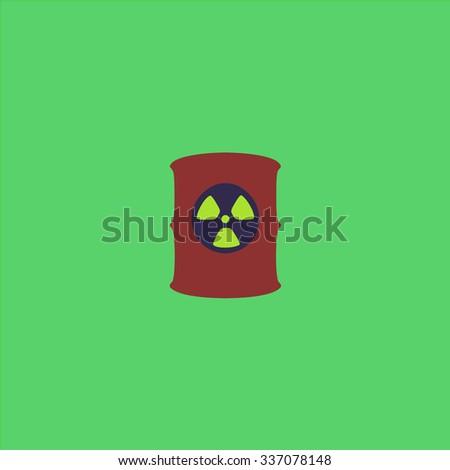 Container with radioactive waste. Icon Vector. Icon Picture. Icon Graphic. Icon Art. Icon JPG. Icon JPEG. Icon EPS. Icon AI. Icon FLAT. Icon SIMPLE - stock vector