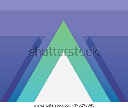 Contemporary geometric material design pattern wallpaper design in green, purple and white hues.