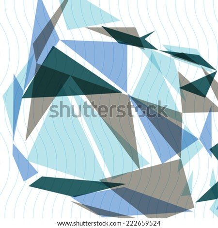 Contemporary tech stylish construction, abstract dimensional background with geometric overlay figures. 3d illusive perspective covering, eps10 vector illustration. Op art backdrop. - stock vector