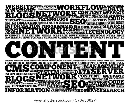 CONTENT word cloud, business concept