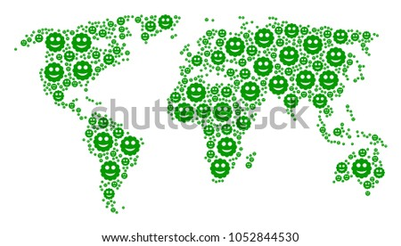 Continental atlas pattern constructed smiled sticker vectores en continental atlas pattern constructed of smiled sticker icons vector smiled sticker pictograms are organized into gumiabroncs Choice Image