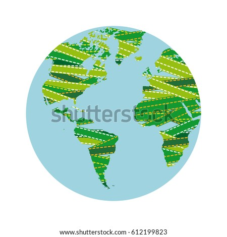 continents earth planet map, vector illustration design