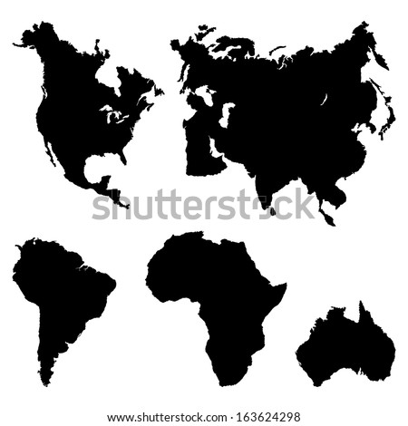 Continents Pictogram - stock vector