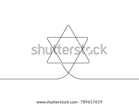 Continuous Drawn One Line Isolated Symbol Stock Vector Royalty Free
