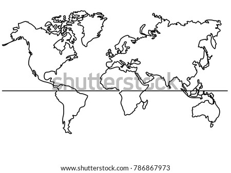 Continuous line drawing map world map vector de stock786867973 continuous line drawing map of world map gumiabroncs Choice Image