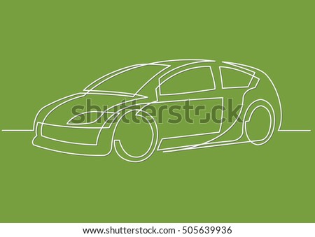 Line Drawing Car : Continuous line drawing car stock vector 505639936 shutterstock