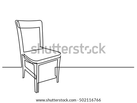 continuous line drawing of chair