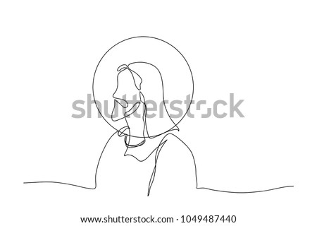 Exceptional Continuous Line Drawing Of Jesus Christ Religion Illustrator