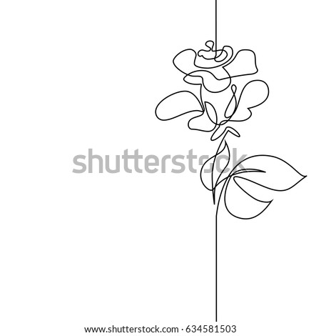 Silhouette Of A Tiny Flower Stock Vector - Illustration of ...