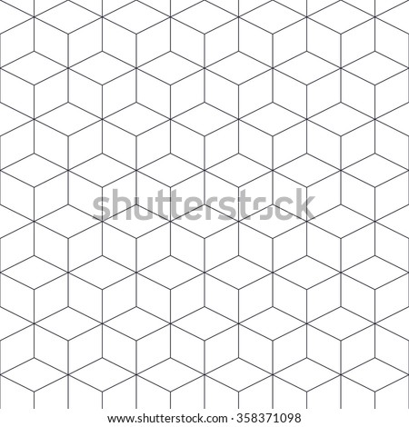 Contour abstract 3d geometrical seamless pattern with transparent background. Can be used for wallpaper, web, prints - stock vector