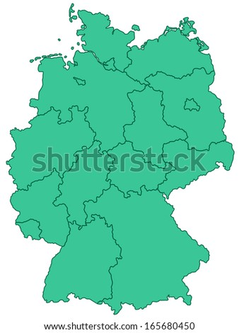 Contour map of the Germany