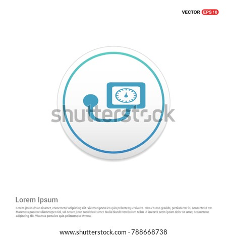 Contour medical mechanical tonometer icon Background icon template