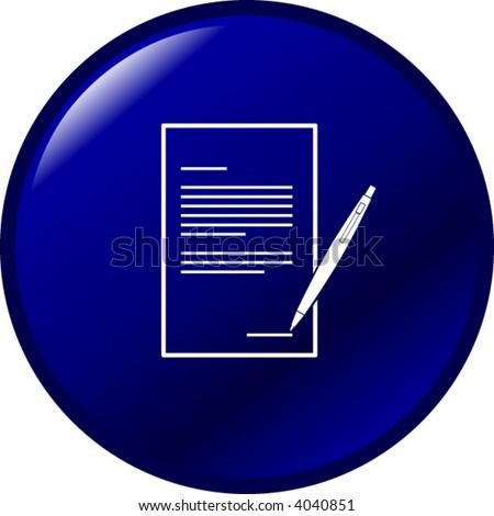 contract button - stock vector