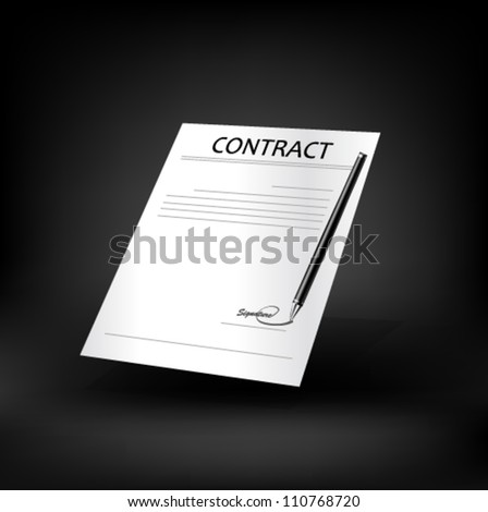 Contract icon.  Vector. - stock vector