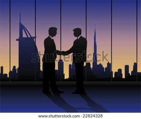 contract in Dubai - stock vector