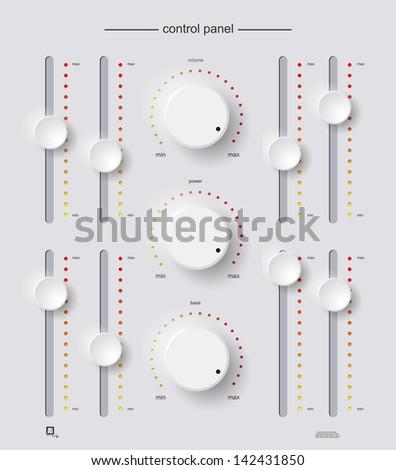 control panel - stock vector