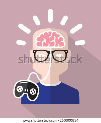 Control your mind - stock vector