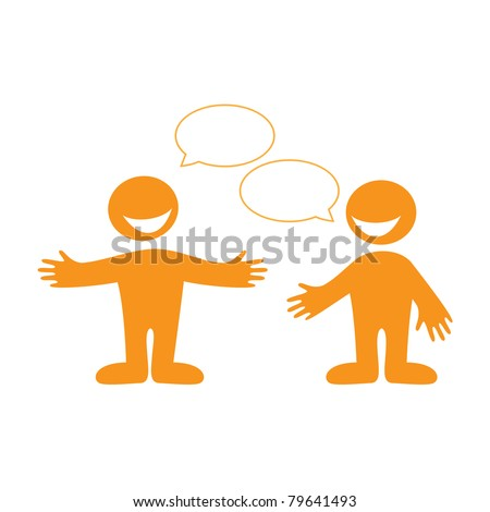 Conversation between two people. Insert your text in the bubbles for speech. Vector. - stock vector