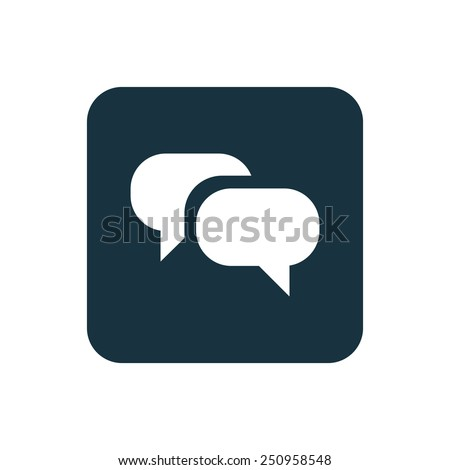 Conversation icon Rounded squares button, on white background  - stock vector