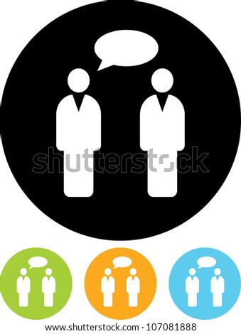 Conversation. People speaking - Vector icon isolated - stock vector