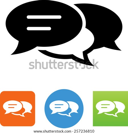 Conversation symbol. Vector icons for video, mobile apps, Web sites and print projects. - stock vector