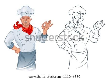 Cook - stock vector