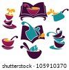 cook book, menu and food vector collection - stock