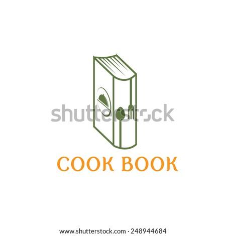 cook book vector design template - stock vector