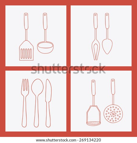 Cook icon design over white background, vector illustration